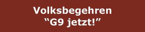 """Logo: Volksbegehren """"G9 jetzt!"""""""