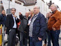 CDU-Fraktion vor Ort: Umgestaltung des Bahnhofsvorplatzes verläuft nach Plan