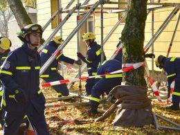 Bergsenkung und Einsturzgefahr: THW probte den Ernstfall